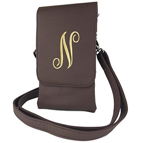 Womens Hudson body letter N body all Charm14 Phone Cell Cross Brown Cross handbags Phones Bag Fits wBqxdf5