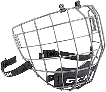 Amazon Com Ccm Hockey 680 Face Mask Helmet Cage Gunmetal Large Sports Outdoors