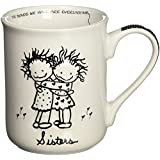 Children of the Inner Light 32330 CHOIL Hug Mug Sisters, Black and White
