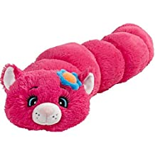 "Pillow Pets Body Pillar Flower Cat - 30"" Pink Flower Cat Stuffed Animal Plush Toy"