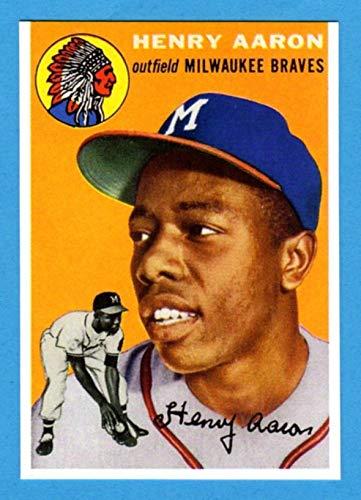 Hank Aaron 1954 Topps Reprint Rookie Card Braves Brewers