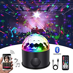 51W lDiAulL. SS300  - KB-SEVEN-Discokugel-9-Farbe-Mini-Bluetooth-Musik-LED-Party-Licht-Bunte-Lichteffekte-Licht-Bhnenbeleuchtung-Kristall-Magic-Ball-mit-Fernbedienung-fr-KinderBar-Party-Energieklasse-A