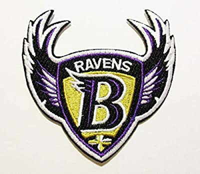 "NFL Baltimore Ravens Embroidered Patch 3"" X 3"""