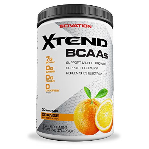 Scivation Xtend BCAA Powder, Branched Chain Amino Acids, BCAAs, Orange, 30 Servings