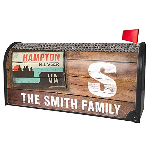 NEONBLOND Custom Mailbox Cover USA Rivers Hampton River - Virginia