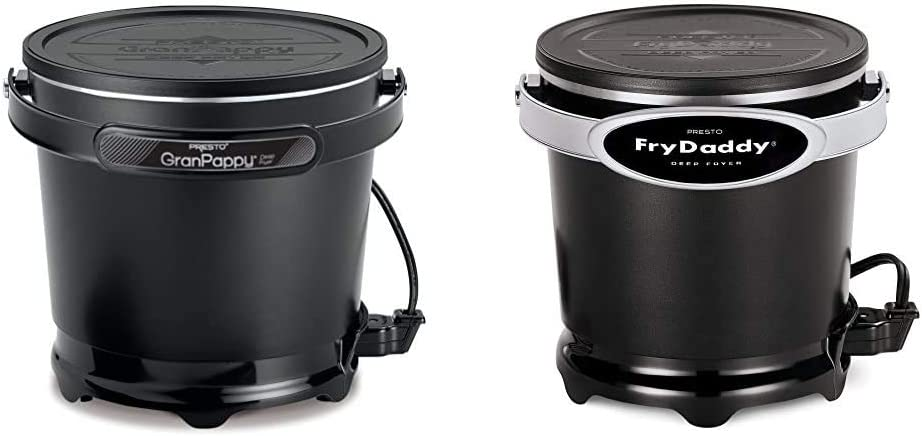 Presto 05411 GranPappy Electric Deep Fryer & 05420 FryDaddy Electric Deep Fryer,Black