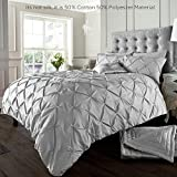 Alford Duvet Cover with Pillowcase Quilt Cover Bedding Set - Silver - Super King by GC