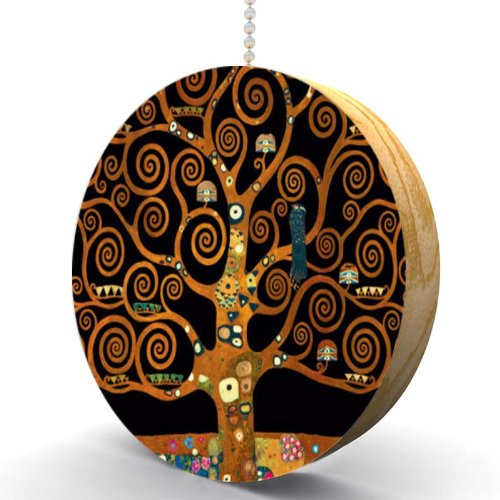 Gustav Klimt Under The Tree of Life Hardwood Oak Fan/Light Pull