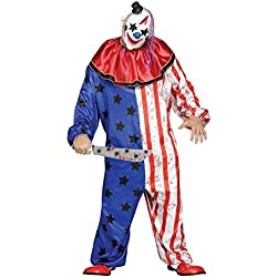 Fun World Men's Evil Clown Plsz Cstm, Multi, Plus Size