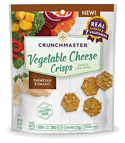 Crunchmaster Vegetable Cheese Crisps, Parmesan Romano