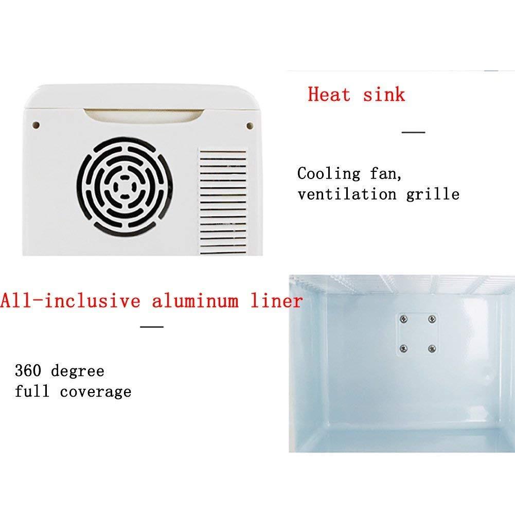ZZKK Refrigerador de Coche portátil Mini Coche Nevera Coche refrigerador Caja de Doble Uso refrigerador/Calentador 10L: Amazon.es: Deportes y aire libre