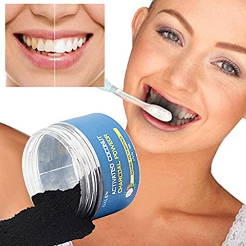 Ecurson Natural Activated Coconut Charcoal Teeth Whitening Powder