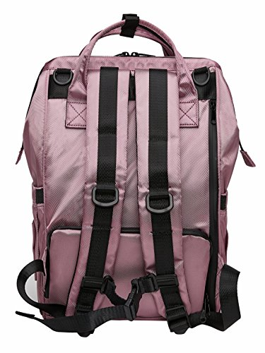 Kah Kee Backpack Diaper Bag Waterproof Insulation Anti-Theft Large Travel Nappy Bag for Girls Boys Purple