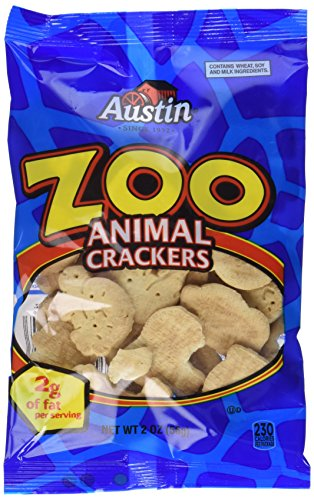 Crackers Austin Zoo - Austin Zoo Animal Crackers 2 Ounce Packages (12 Pack)