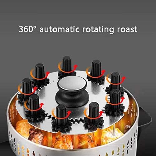 Rôtissoire Verticale pour Four à grillades Fours Grill Kebab au Poulet Viande et brochettes à Rotation de 360º en Acier,10Fork