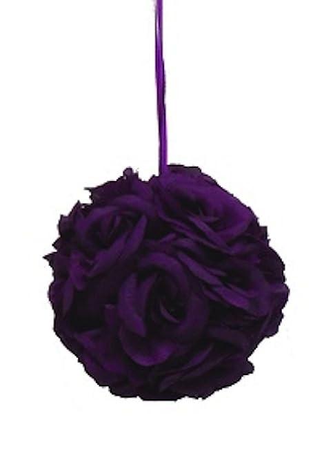 9 pulgadas Rose Kissing Bola Decoración de flores de seda boda ...