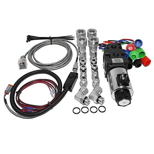 Hydraulic Multiplier Selector Diverter Solenoid Valve w/Switch & Ag Coupler Kit