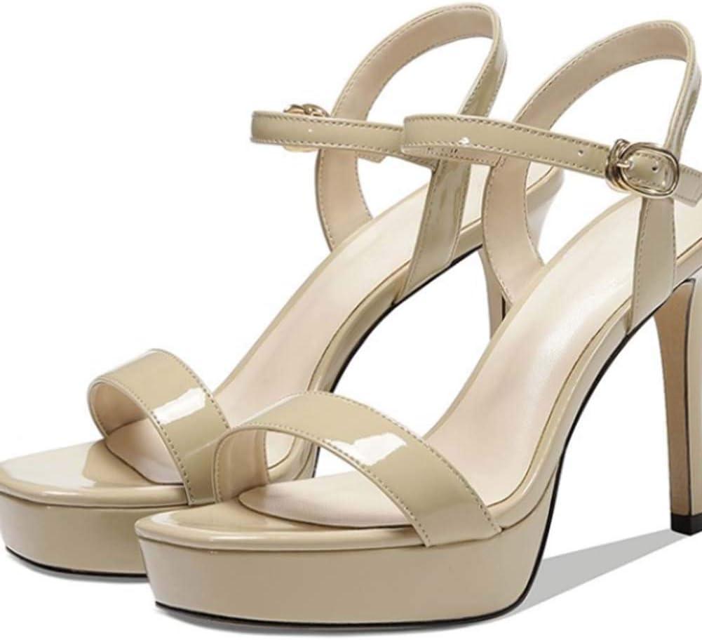 MKXF Super High Heel Sandales Beige