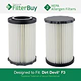 dirt devil filter f3 - 2 - Dirt Devil F3 (F-3) Washable HEPA Replacement Filters, Part # 3-250435-001 (3250435001). Designed by FilterBuy to fit Dirt Devil Breeze and Dirt Devil Jaguar Breeze Vacuums