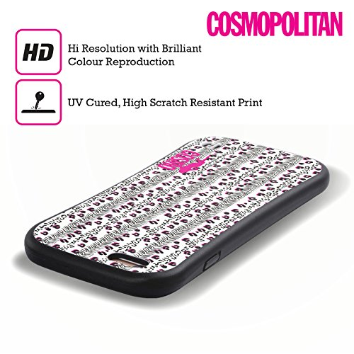 Official Cosmopolitan White Mix Animal Print Hybrid Case for Apple iPhone 6 / 6s