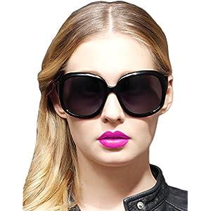 ATTCL Women's Oversized Women Sunglasses Uv400 Protection Polarized Sunglasses,3113 Black