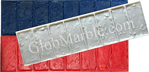 GlobMarble Concrete Stamps Set SM 4010. Brick Border Concrete Stamps -