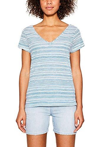 edc by Esprit 067cc1k002, Camiseta para Mujer Azul (Blue)