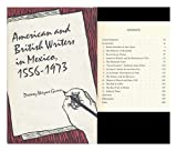 American and British Writers in Mexico, 1556-1973, Drewey W. Gunn, 0292703074