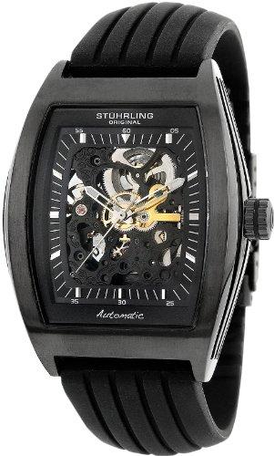 Stuhrling Original Men's 182.33561 Leisure Millennia Skeleton Automatic Black Watch