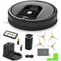 iRobot Roomba 960 Vacuum Cleaning Robot + Dual Mode Virtual Wall Barrier (Batteries) + Extra High Efficiency Filter + 4 Extra Sidebrushes + More
