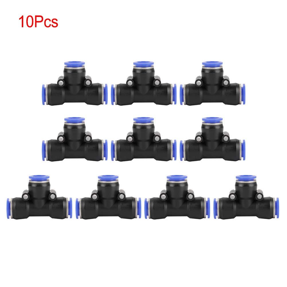 10 Piezas OD 12 mm Manguera de Aire neum/ática Conector de uni/ón en T de 3 v/ías Conector de Empuje de Aire Accesorios r/ápidos Wytino Accesorios r/ápidos