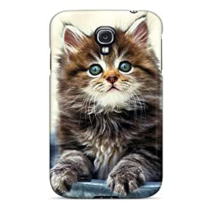 Defender Case With Nice Appearance (kitty In A Pot) For Galaxy S4