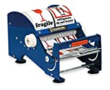 Bertech Table Top Tape and Label Dispenser, 6'' Wide, Blue
