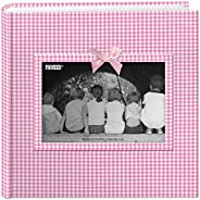 Pioneer Photo Albums Álbum de fotos com moldura de tecido Gingham de 200 bolsos para impressões de 10 x 15 cm,
