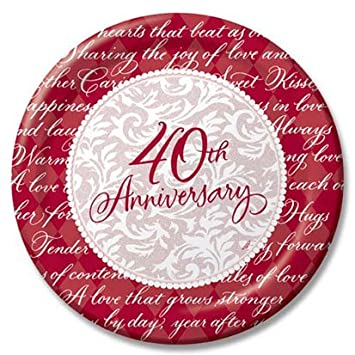 Ruby 40th Wedding Anniversary Party Supplies City. 40th Ruby Anniversary Balloons  sc 1 st  10000+ Best Deskripsi Plate 2018 & 40Th Anniversary Paper Plates - Best Plate 2018