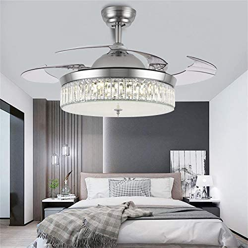 Kankanlei 36'' Crystal Ceiling Fan Light