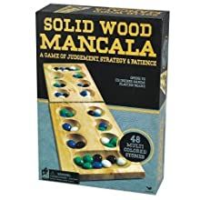 Solid Wood Mancala Marble Game