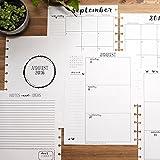 2016 - 2017 Academic Calendar for Disc-Bound Planner, Letter Size 8.5