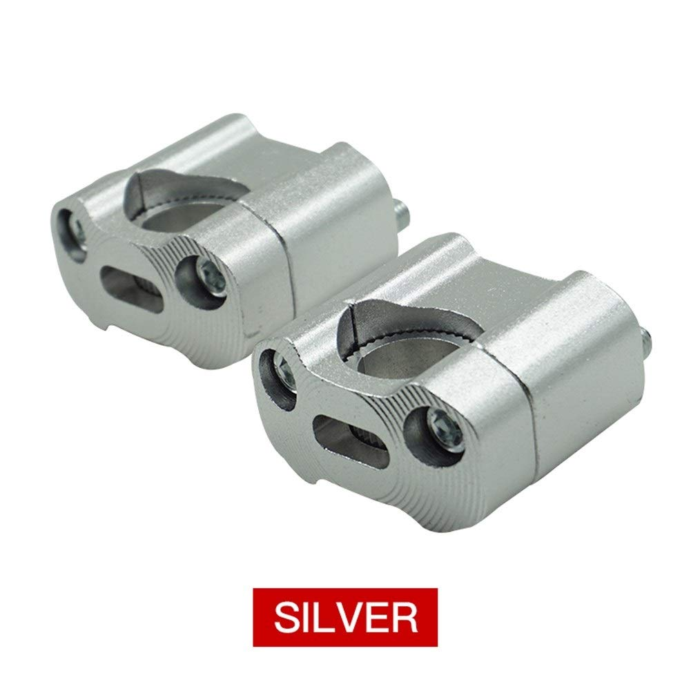 CONGCASE Motorcycle 22mm 28mm CNC Aluminum Handlebar Risers Adjustable Fat Bar Clamps Universal for KTM YZF 7/8'' 1-1/8 Dirt Pit Bike (Color : Silver)