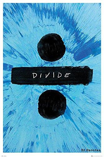 Ed Sheeran Poster - Divide + 1 pair of black hangers