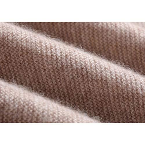 Mifusanahorn Girocollo color In Lana E Autunno inverno Manica A Coffee Cashmere Size L Lunga Per Maglione Coffee Donna rrqXwB5O