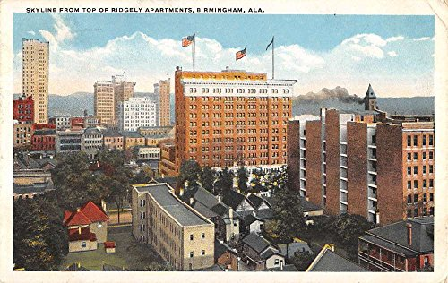 Birdseye Postcard View (Birmingham Alabama Birdseye View Of City Antique Postcard K87880)