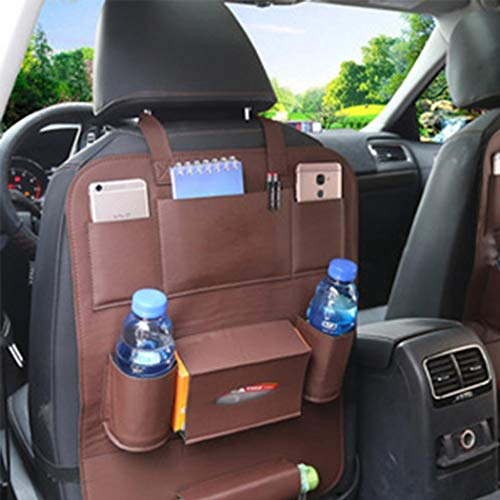 "Fanxis Backseat Car Organizer Extra Large(26"" x 18"") Hanging Storage Bag with Easy Access Tablet Holder + Multiple Pockets Fits All Car Seats, Holds Paper,Toys,Water Bottle 1pcs"