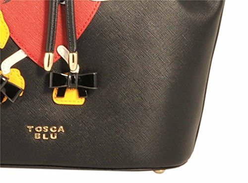 Tosca Blu - Bolso estilo cartera para mujer negro negro