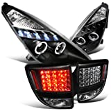 Spec-D Tuning LTLHP-CEL00JML-TM Headlight Tail Light Halo Projector LED Black