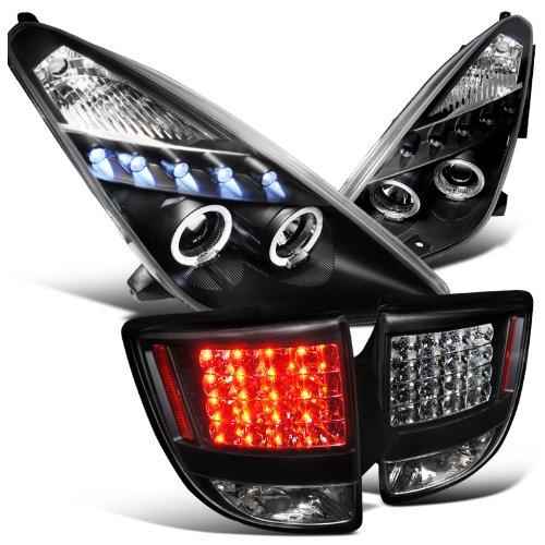Toyota Celica Black Halo Led Projector Headlights , Led Black Tail Lights