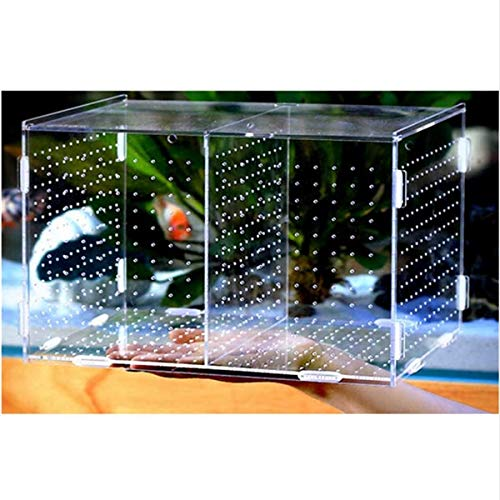Acrylic The fish tank Isolation box Isolation tank Breeding boxes Breeding boxisolation incubation Grow seedlings Reproduction   bluee, 20x20x10cm