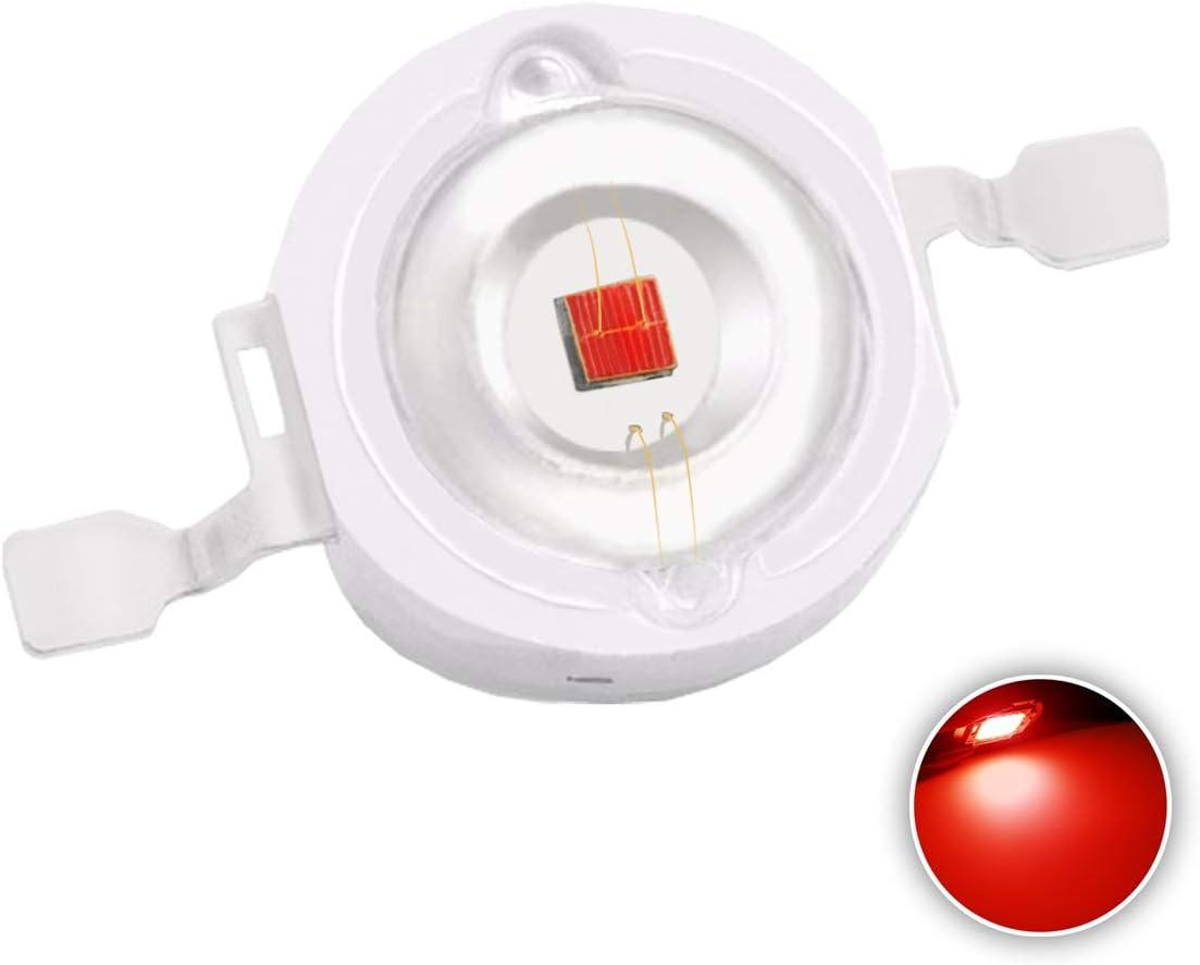 Super Bright Intensity SMD COB Light Emitter Components Diode 3 W Bulb Lamp Beads DIY Lighting 10 pcs High Power Led Chip 3W Warm White 3000K-3500K//Input 700mA//DC 3.2V-3.6V//3 Watt