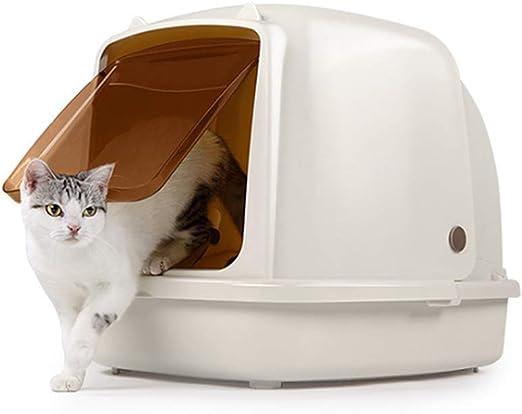 Jnzr Sanitario para Gatos, Totalmente Cerrado Loo para Gatos ...