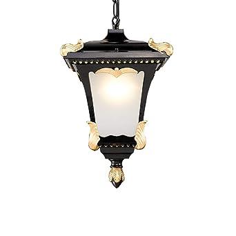 Lámpara colgante retro exterior/interior Lámpara vintage E27 ...